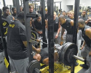 Bench Pressing in High School
